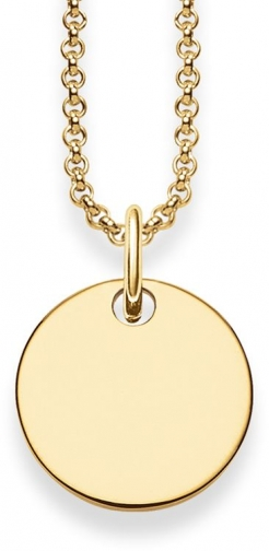 Thomas Sabo Gold Disk Love Bridge Necklace