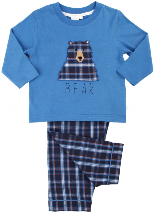 House Of Fraser Mini Vanilla Boys Bear Applique Pyjama