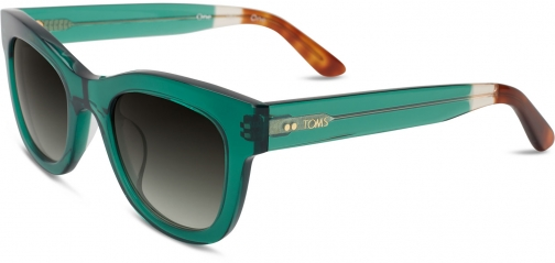 Toms Chelsea Emerald Crystal Sunglasses