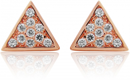 House Of Fraser LaBante Rose Gold Triangle Stud Earring
