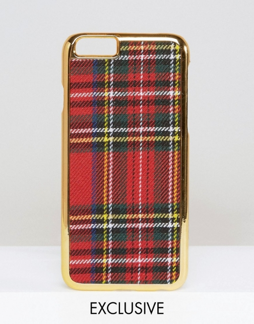 Asos WAH LONDON X ASOS Tartan IPhone 6 Case