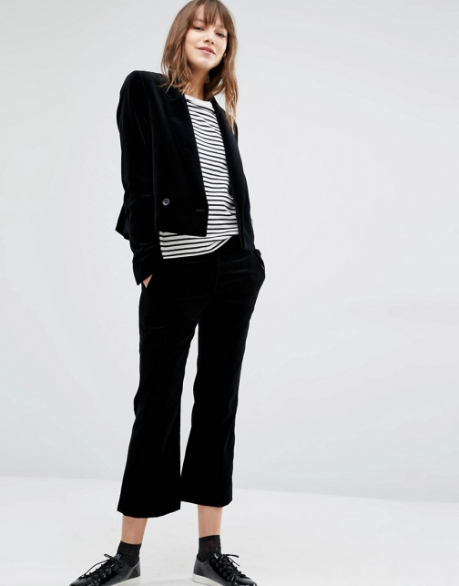 Ps By Paul Smith Velvet Cropped Trouser