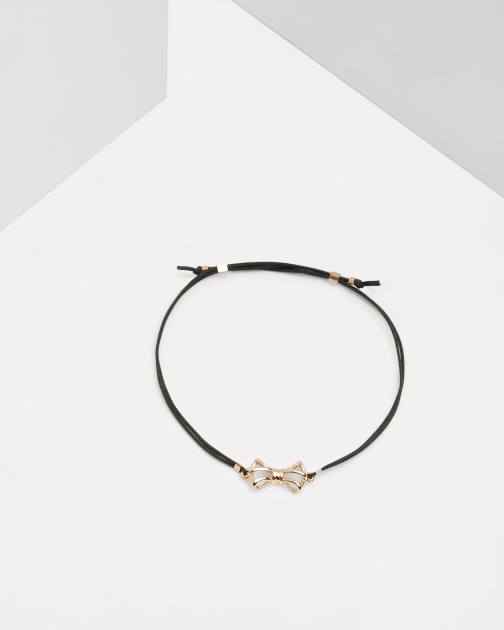 Ted Baker Geometric Bow Black Bracelet