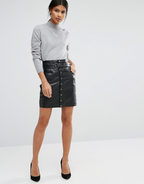 Y.a.s Lexu Leather Skirt
