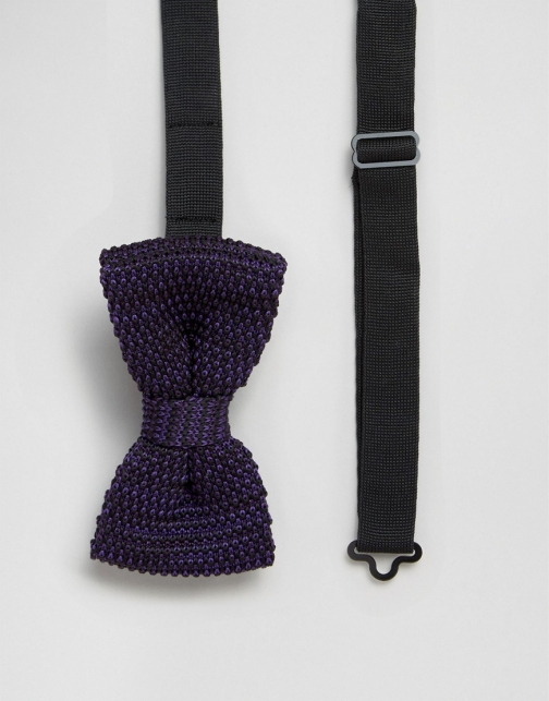 Asos Feraud Knitted Purple Bow Tie