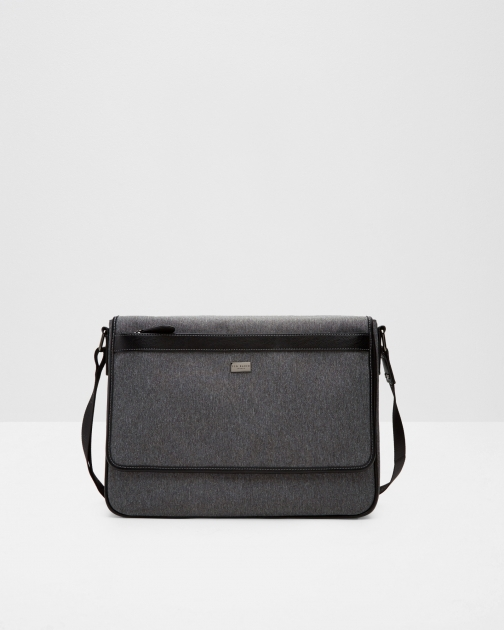 Ted Baker Contrast Messenger Bag Grey Messenger Bag & Business Bag