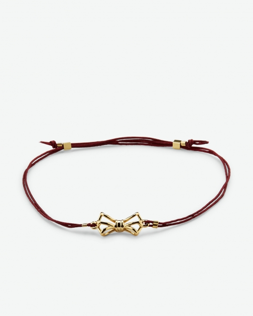 Ted Baker Geometric Bow Oxblood Bracelet