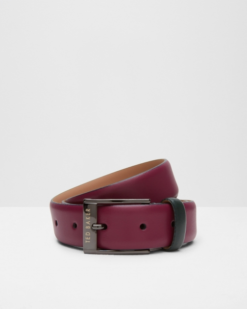 Ted Baker Leather Colour Block Deep Pink Belt