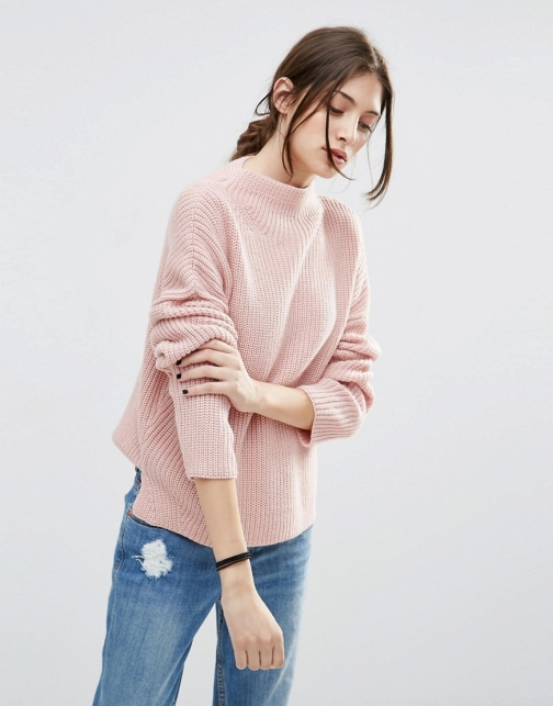 Asos Ultimate Chunky With High Neck Jumper
