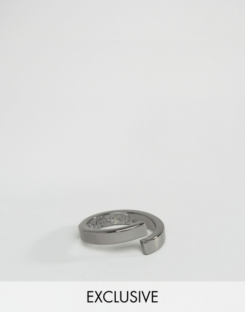 Icon Brand Wrap Gunmetal Ring