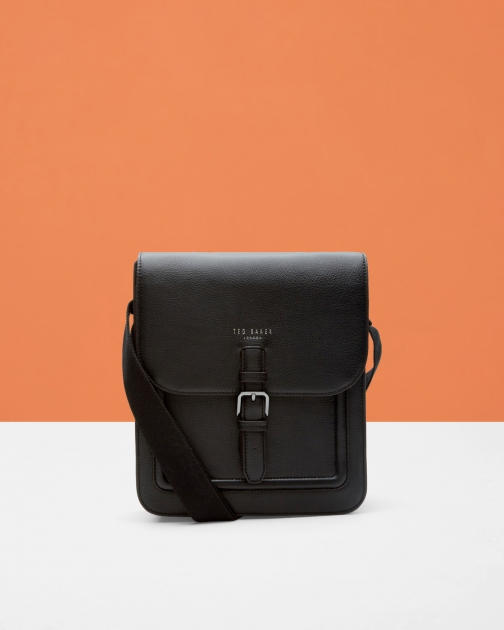 Ted Baker Leather Flight Black Bag