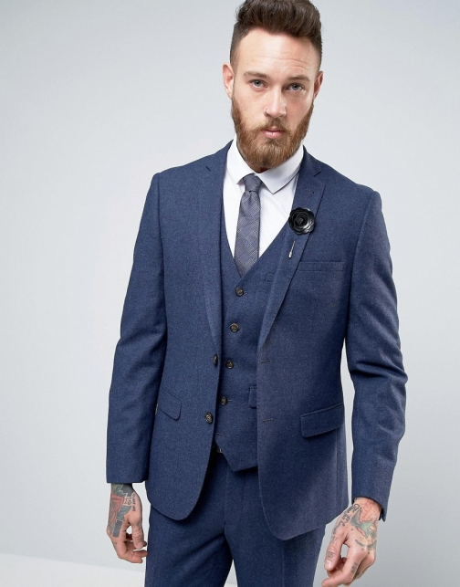 Asos Harry Brown Heritage Slim Fit Donegal Suit Jacket