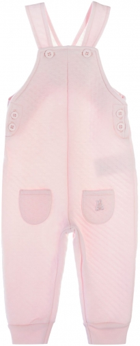 Benetton Girls Textured Jersey Dungaree