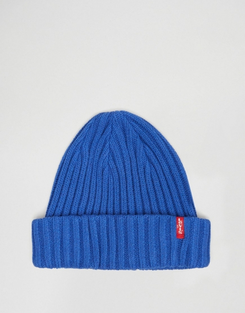 Levi's Ribbed Blue Beanie