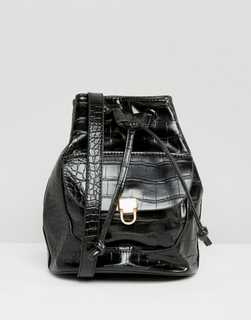 Missguided Croc Effect Duffle Bag