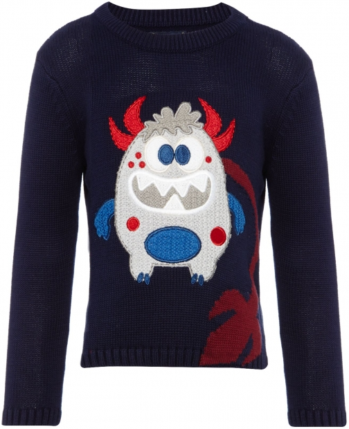 House Of Fraser Howick Junior Boys Crew Neck Monster Jumper