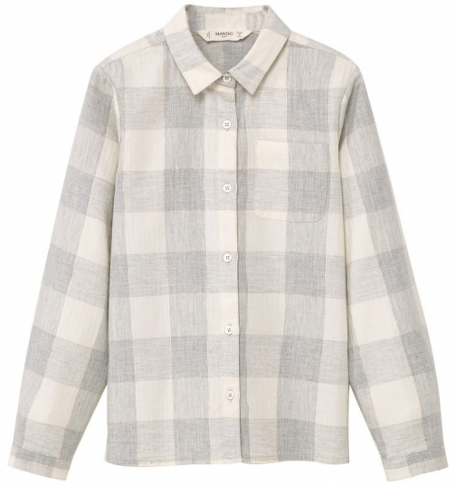 Mango Girls Check Cotton Shirt