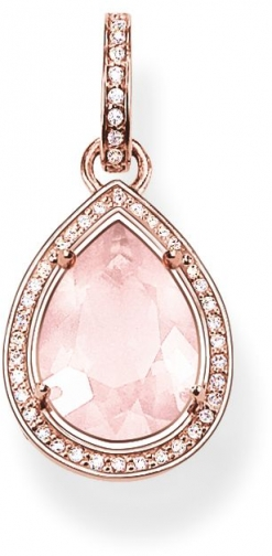 Thomas Sabo Glam & Soul Rose Quartz Drop Pendant