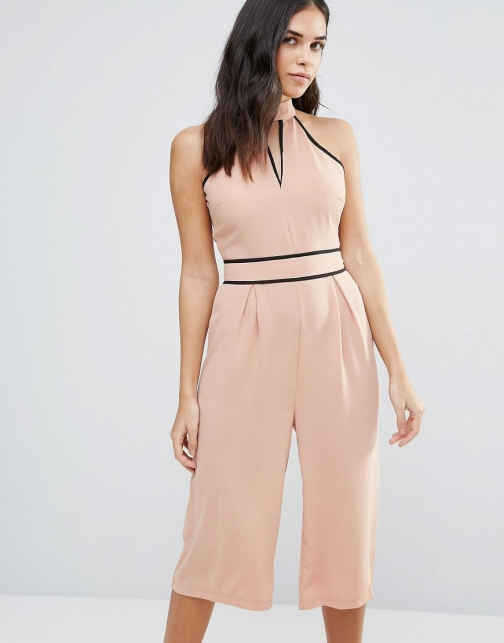 Influence Choker Culotte Jumpsuit
