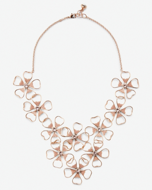 Ted Baker Floral Cluster Pink Necklace