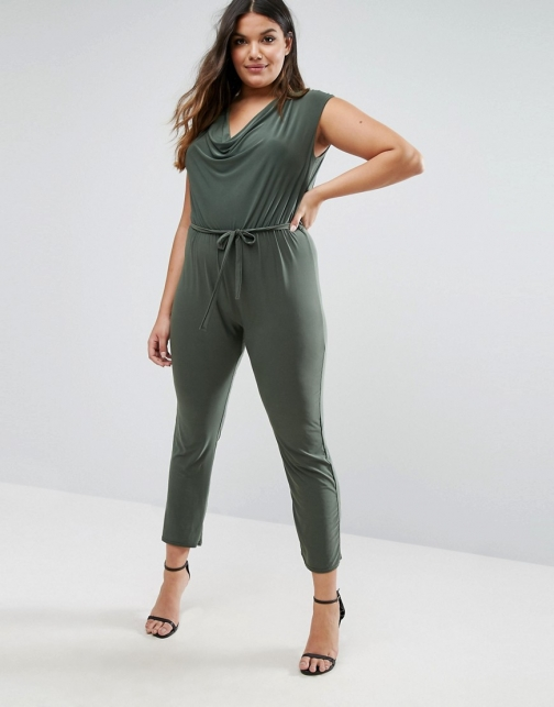 Club L With Cowl Neck Jumpsuit