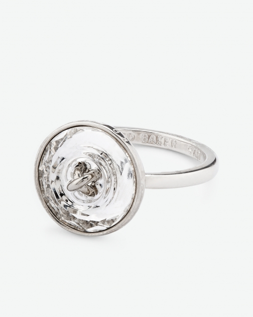 Ted Baker Crystal Button ZZ-CRYSTAL Ring