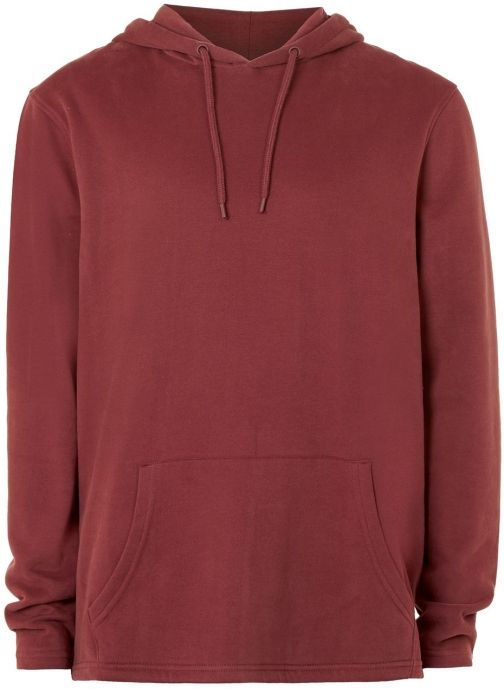 Topman Men's Topman Red Fixed Hem Oversized Hoodie