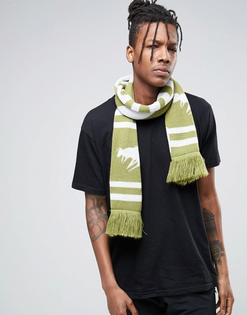 Abuze London Chevron Knitted With London Script Scarf