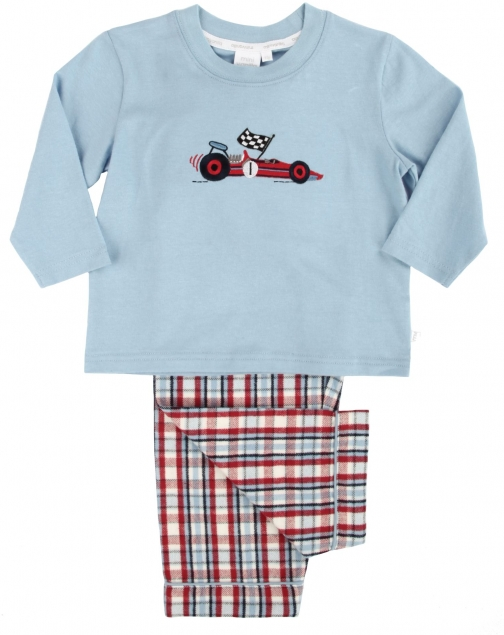 House Of Fraser Mini Vanilla Boys Racing Car Pyjama