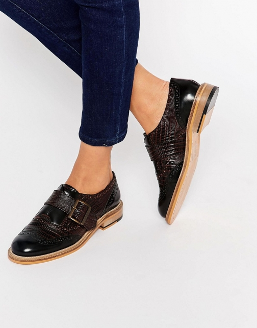 Asos MAJESTY Leather Flat Shoes