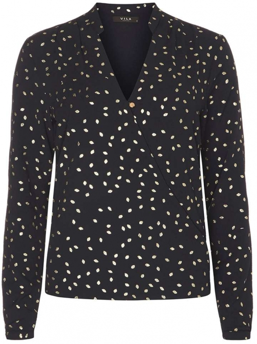 Dorothy Perkins Womens **Vila Gold Dot - Blue Blouse
