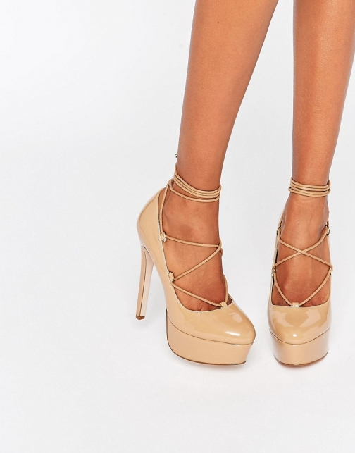 Asos PARTY ALL NIGHT Lace Up Platform
