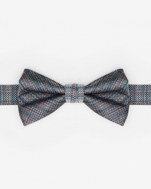 Ted Baker Textured Silk Blue Bow Tie