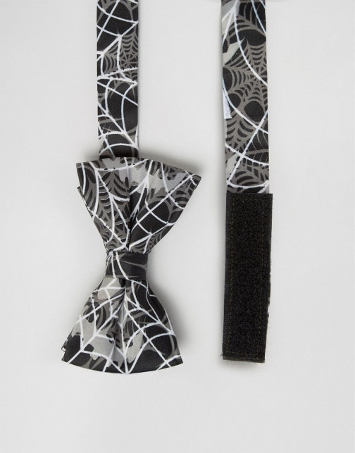 Asos SSDD Halloween With Spider Webs Bow Tie