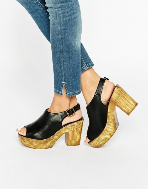 New Look Wooden Slingback Platform