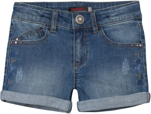 Catimini Girls Bleached Denim Short