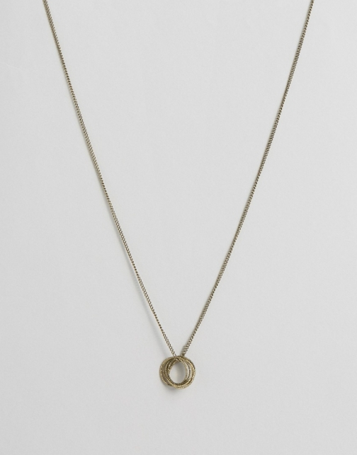 Asos Circle Multi Chain Pendant Necklace
