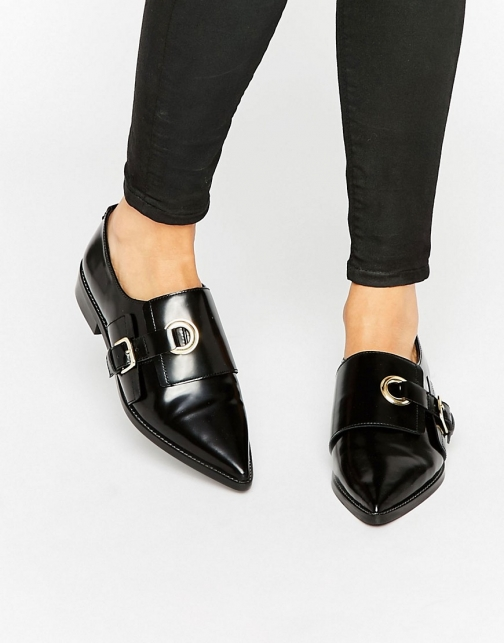 Asos MADAME Leather Flat Shoes