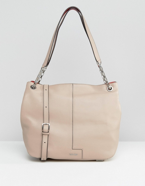 Calvin Klein Shoulder With Chain Detail Strap Bag