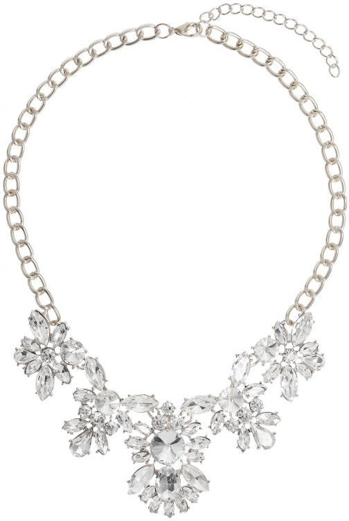 Mikey Multi Crystal Flower Linked Necklace