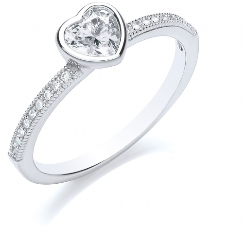 Bouton Stacker Heart Ring