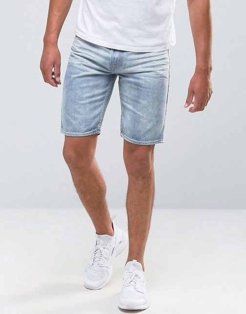 Bellfield Bleached Wash Denim Short
