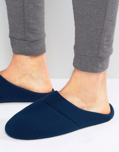 Asos Slip On Navy Slipper
