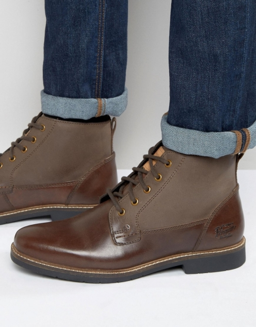 Original Penguin Lace Up Brown Leather Boot