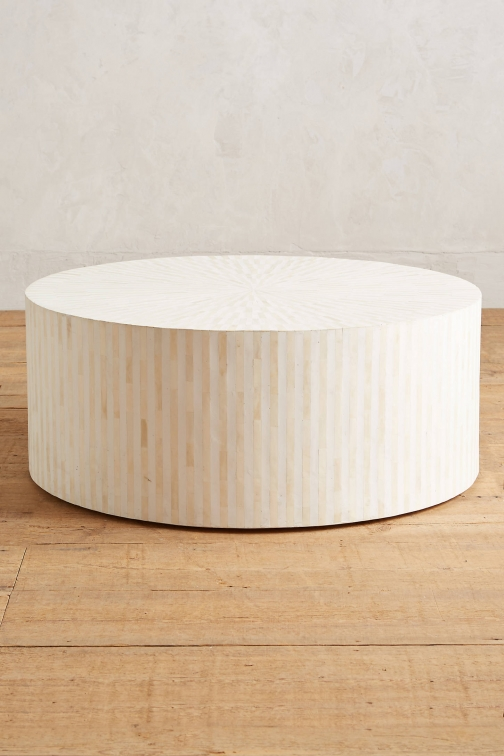 Anthropologie Rounded Inlay Coffee Table Accessorie