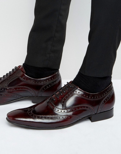 Base London Cane Patent Leather Brogues Brogue