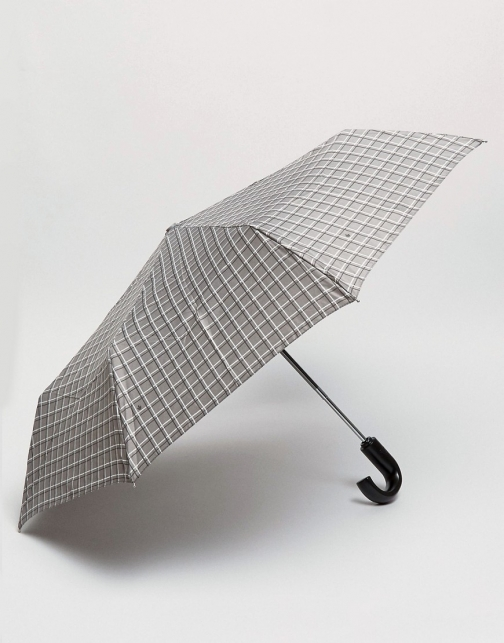 Fulton Grey Check Umbrella
