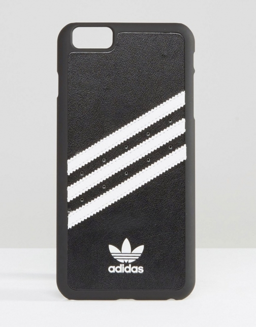 Adidas Originals 3 Stripe IPhone 6 Plus Black And White Case