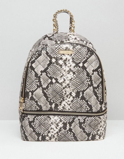 Aldo Faux Snake With Zip Around Pocket Backpack