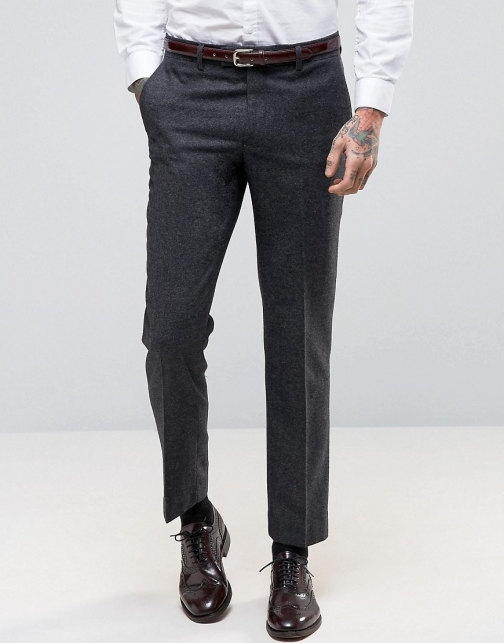 Asos Harry Brown Heritage Slim Fit Donegal Suit Trouser